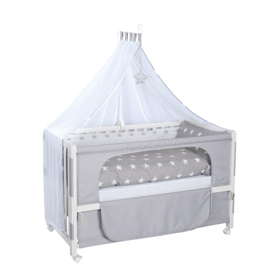 roba Lit enfant à barreaux Little stars, blanc 60x120 cm