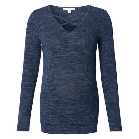 ESPRIT Koszula z długim rękawem Nocny Niebieski
