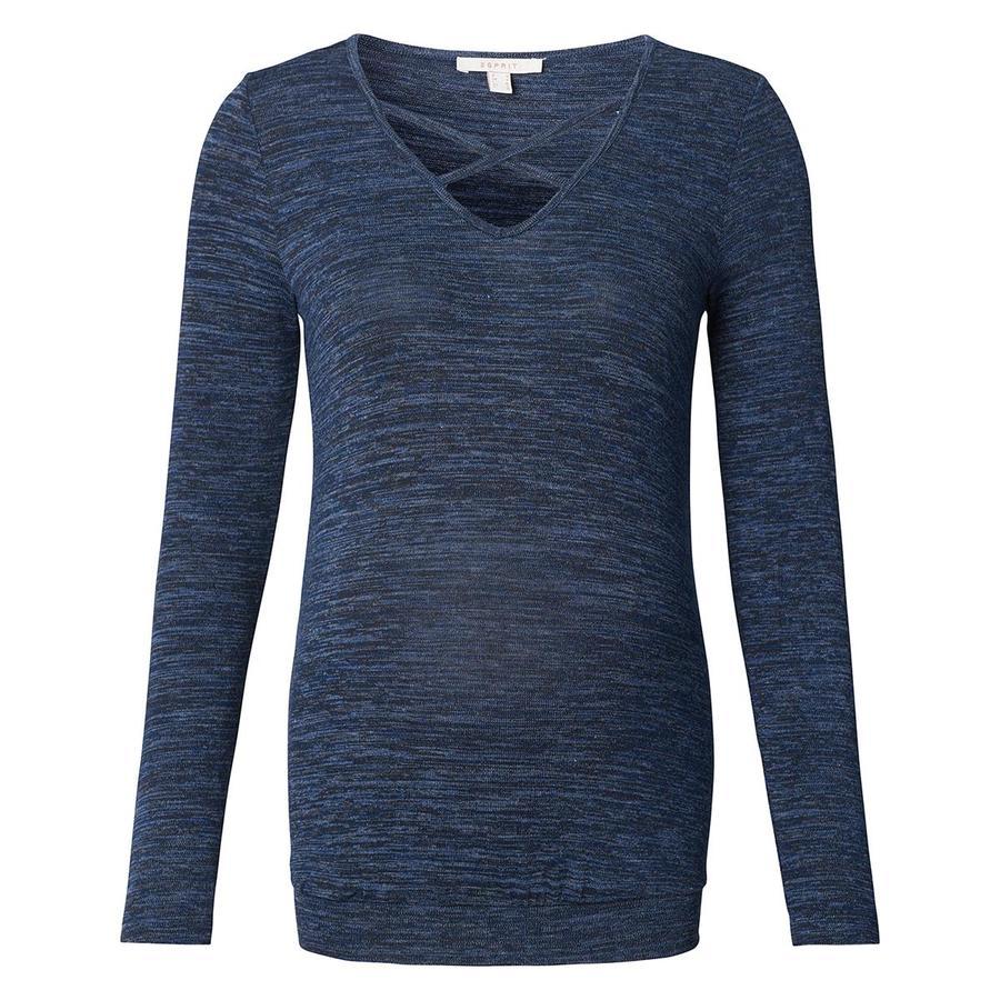 ESPRIT Langærmet skjorte Night Blå