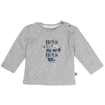 SALT AND PEPPER Koszule z długim rękawem, zabawne koszulki Time Grey Melange