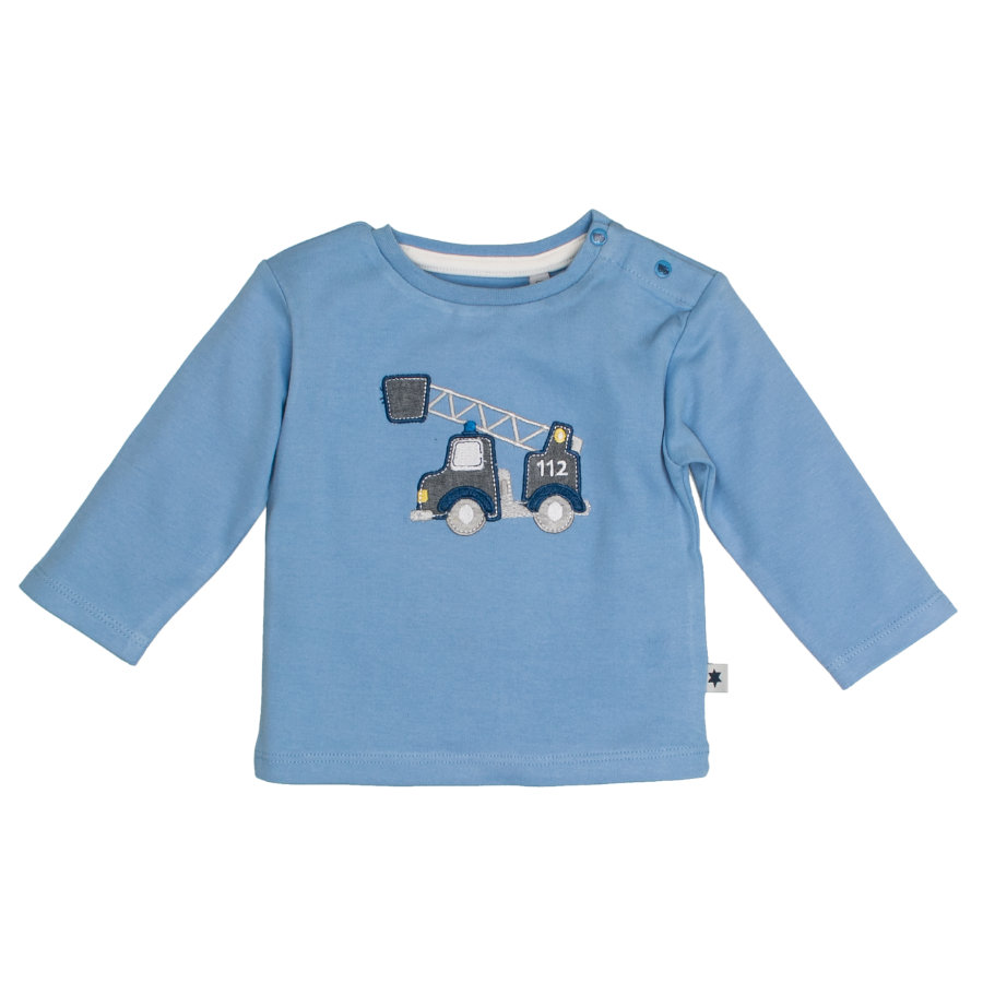 SALT AND PEPPER Langarmshirt Fun Time Baby Blue Kranwagen