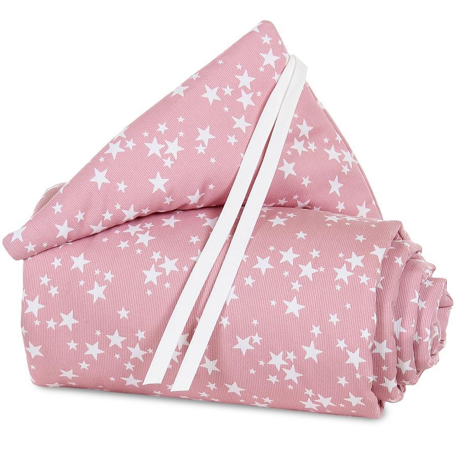 babybay Tour de lit Maxi rose, Étoiles blanc