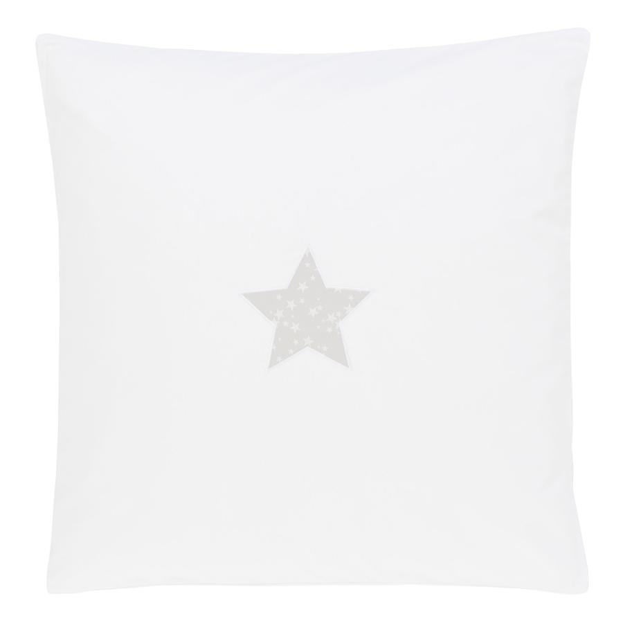 babybay Parure de lit Étoile, gris nacré, 80 x 80 cm