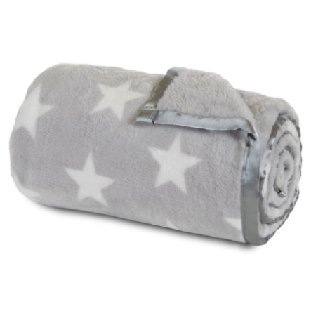 babybay manta gustosa gris claro estrella blanca