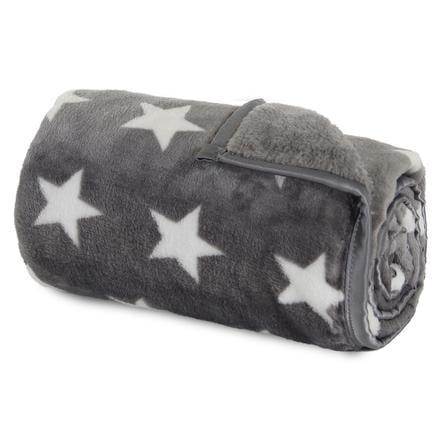 babybay Kosete teppe mørkegrå stjerner hvite