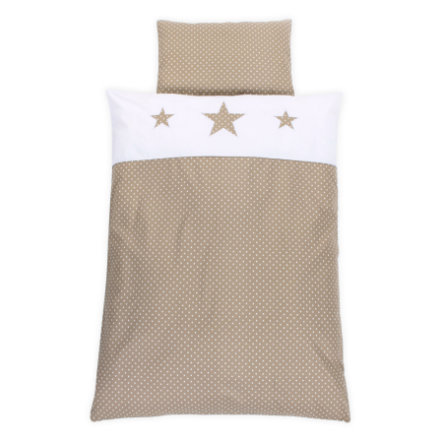 babybay Beddengoed Ster zand 100 x 135 cm