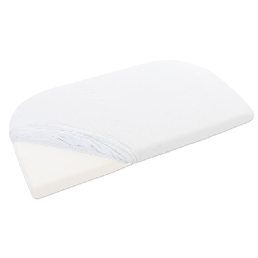 babybay Copri materasso in spugna Original bianco con membrana
