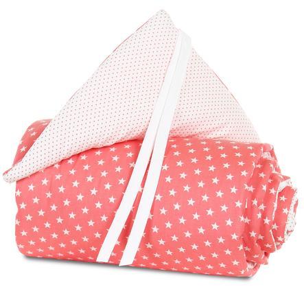 babybay Ochraniacz do łóżeczka mini/midi brzoskwiniowy Gwiazdki biały