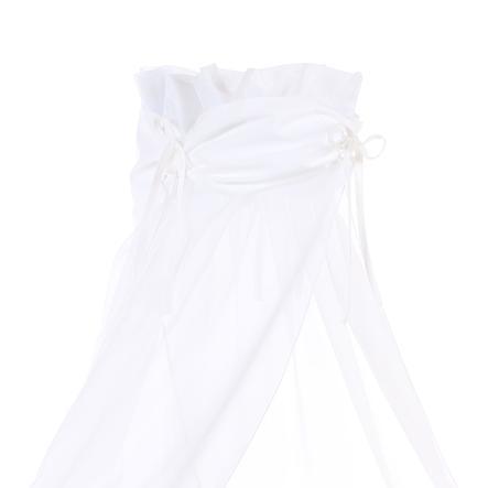 babybay baldakin stoff hvitt / hvitt 200 x 135 cm
