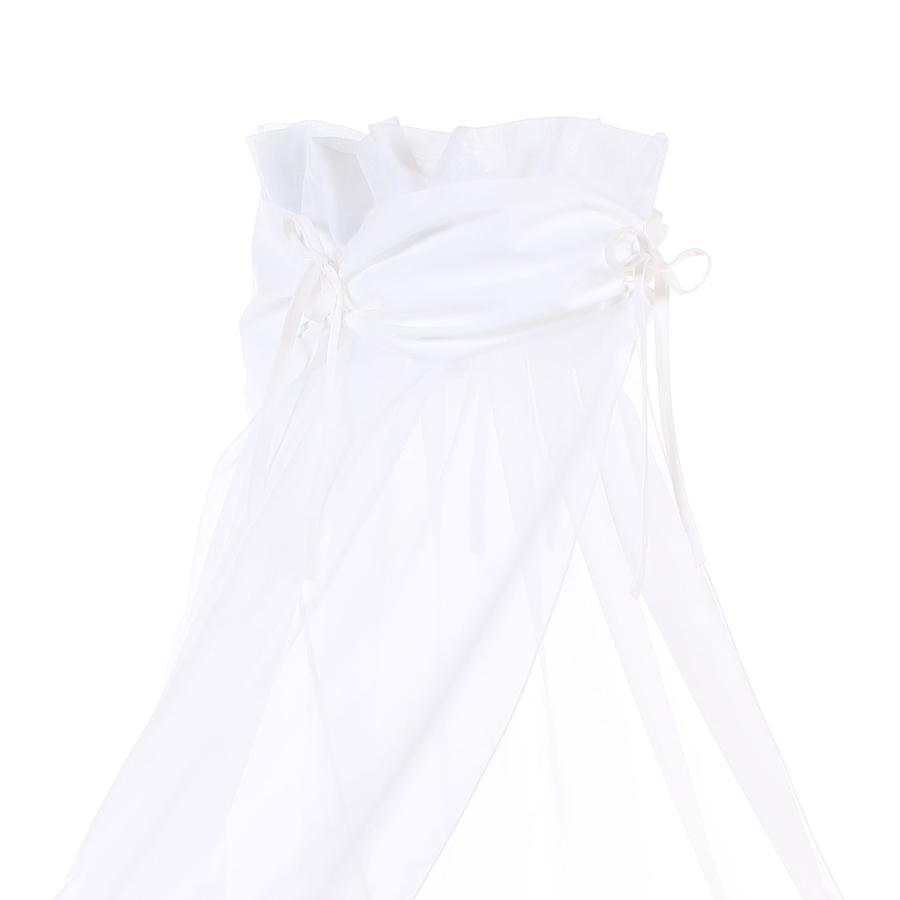 babybay Sänghimmel vit/vit 200 x 135 cm