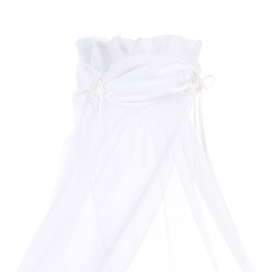 Babybay Velo baldacchino, bianco/bianco 200 x 135 cm
