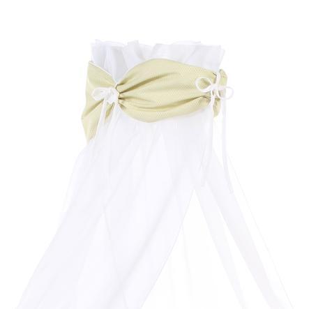 babybay Ciel de lit vert pâle Pois blanc, 200 x 135 cm