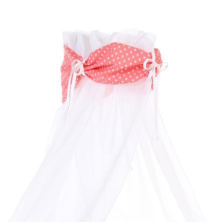 Babybay Velo baldacchino stella, pesca/bianco 200 x 135 cm