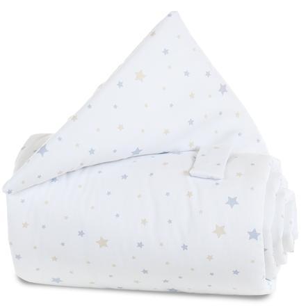 babybay Gitterschutz Sternenmix sand/azurblau