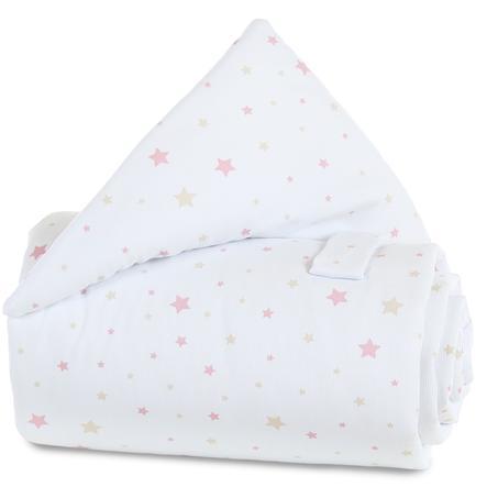 babybay Couverture de barrière de lit Étoiles sable/framboise
