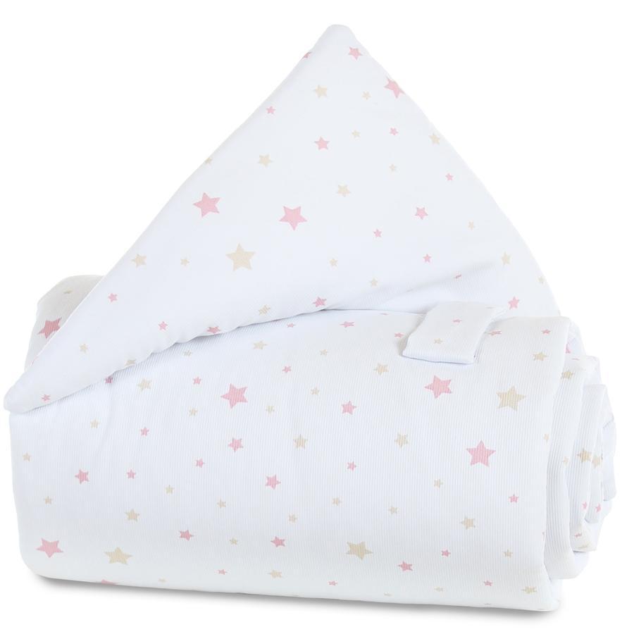 Protector babybay mix de estrellas arena/rosa