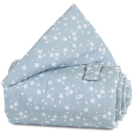 babybay mantinel azurová Hvězdičky bílé