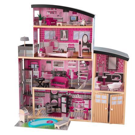 Kidkraft® Puppenhaus Glitzer Puppen-Villa