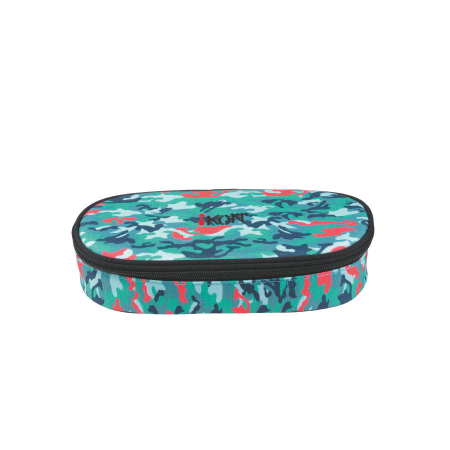 iKON Pencil Case Styles Turquoise Camouflage