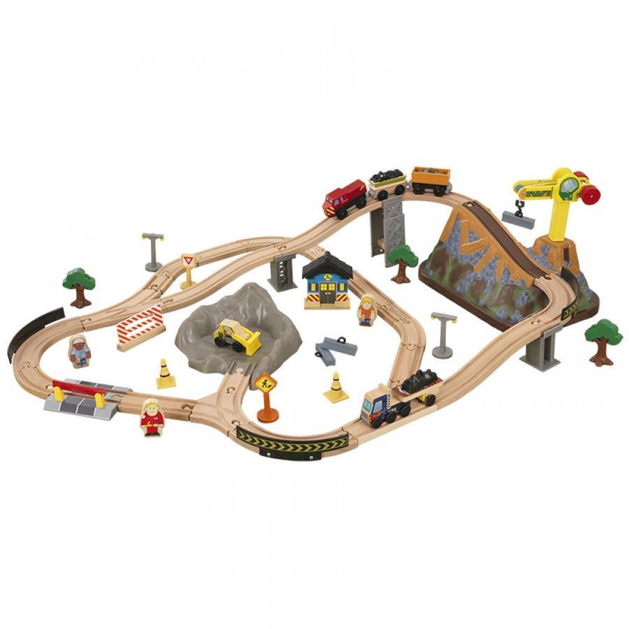 KidKraft® Conjunto ferroviario de madera