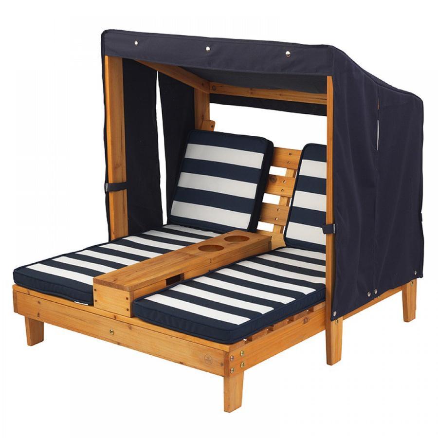 Kidkraft® Chaise longue enfant double, porte-boissons 00524