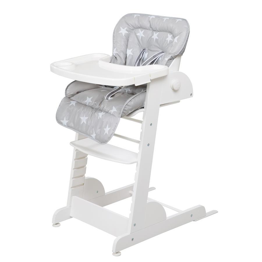 Roba Jídelní židlička Chill Up, Little Stars bílá
