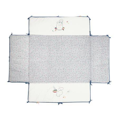 noukie´s Wkładka do kojca Guss & Victor biały/szary 75 x 95 cm