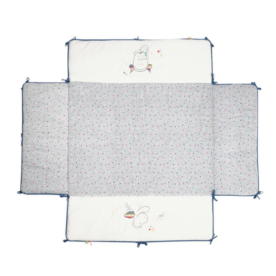 noukie´s Tour de parc Guss & Victor blanc/gris 75 x 95 cm