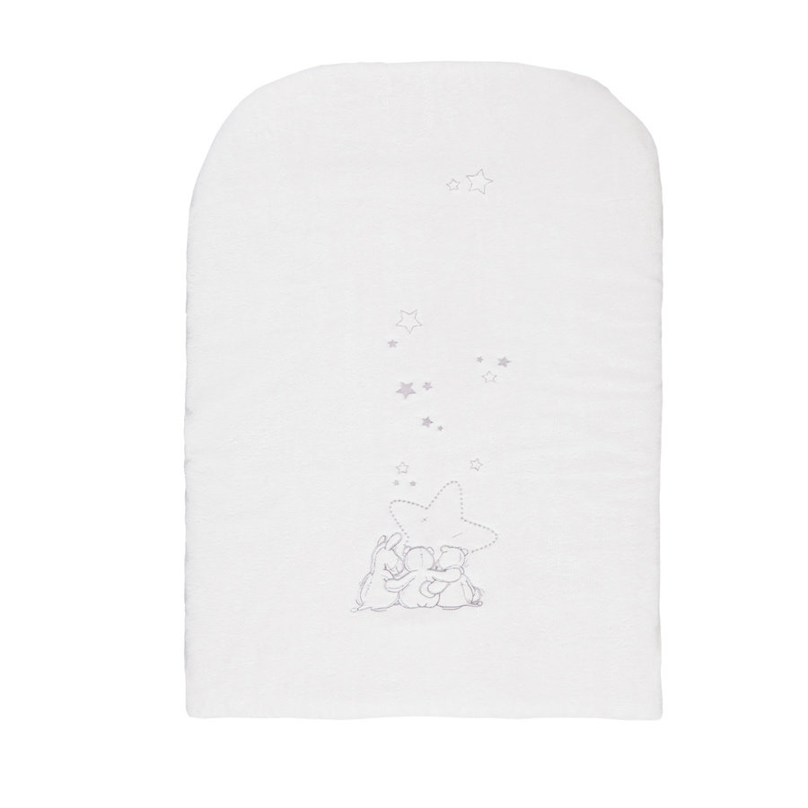 noukie´s Funda de felpa para cambiador gris/blanco 60 x 30 cm