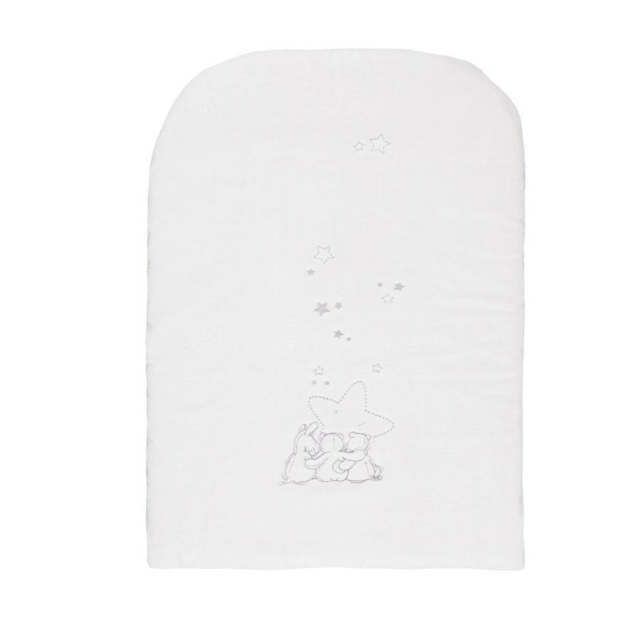 noukie´s Housse de matelas à langer d'étoiles éponge blanc 60 x 30 cm
