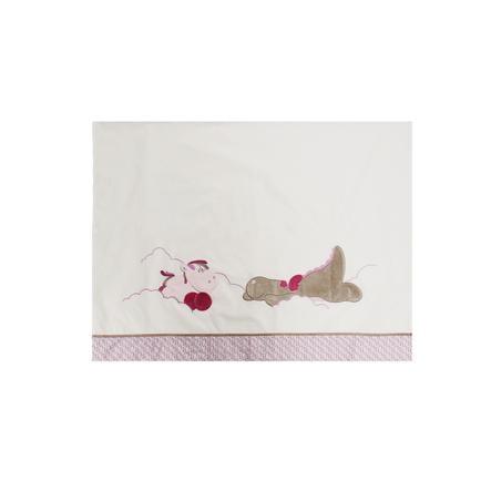 noukie´s Bettlaken und Kissenbezug Victoria & Lucie rosa 120 x 80 cm