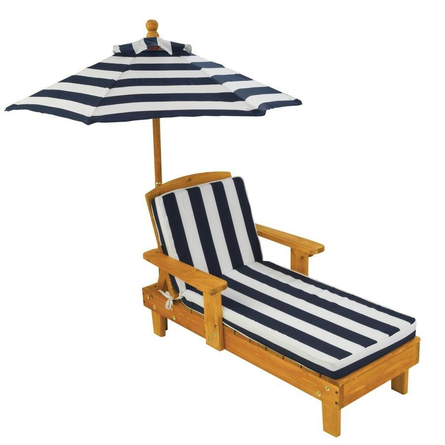 Kidkraft® Chaise longue bois et parasol enfant 00105