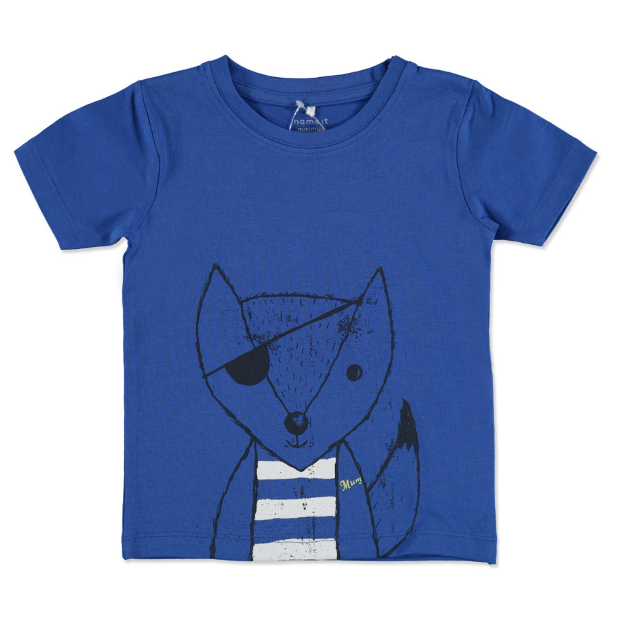 name it Boys T-Shirt Fuchs Vuxfro nautical blue