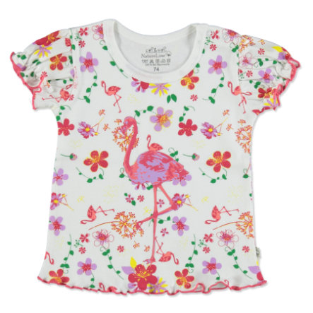 EBI & EBI Fairtrade T-Shirt Flamingo weiß