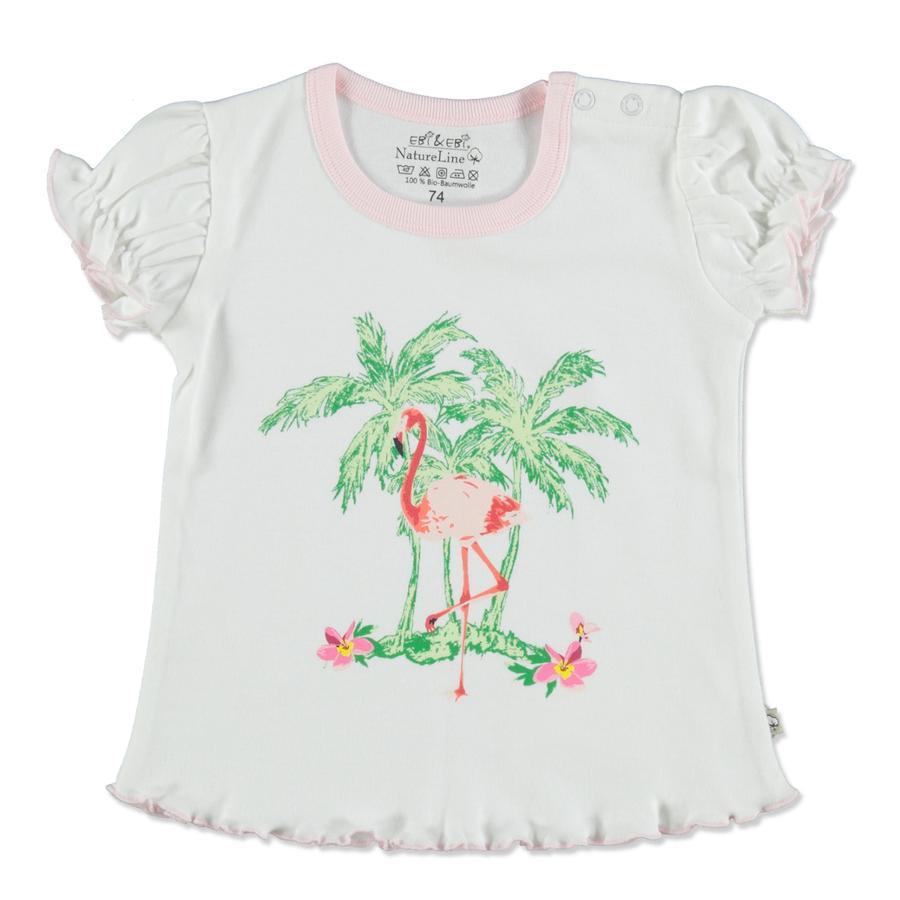 EBI & EBI Fairtrade blanc/rose T-Shirt