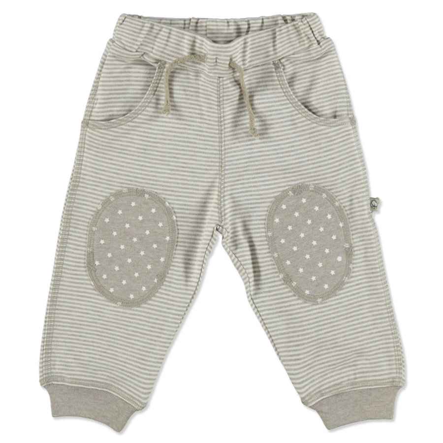 EBI & EBI Fairtrade plíživé kalhoty béžové melanžové stripes
