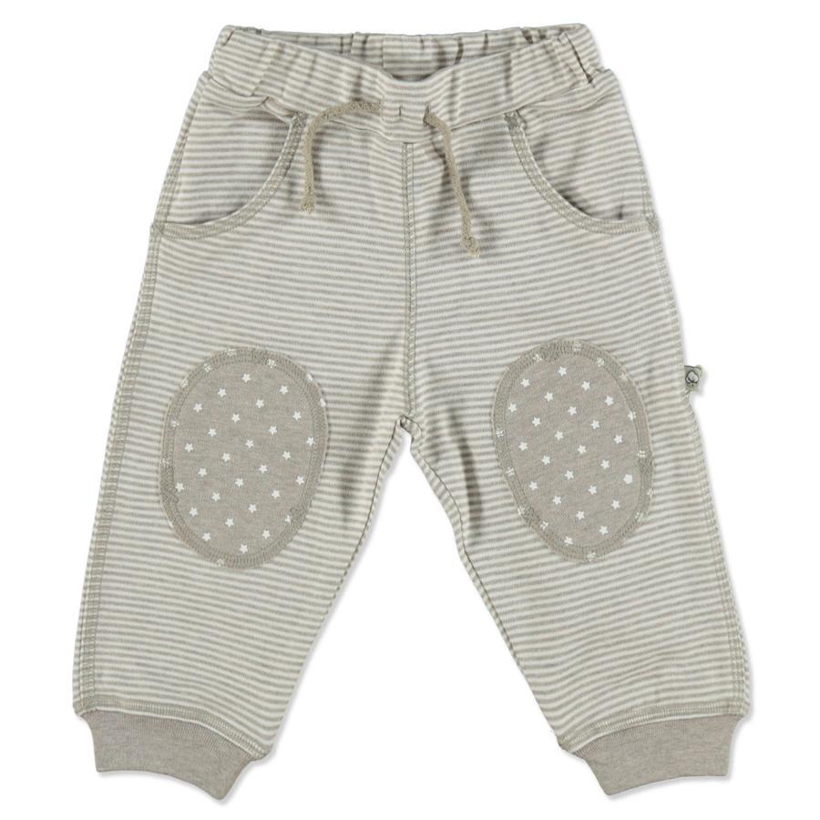 Pantalon bébé EBI & EBI Fairtrade beige à rayures mélangées