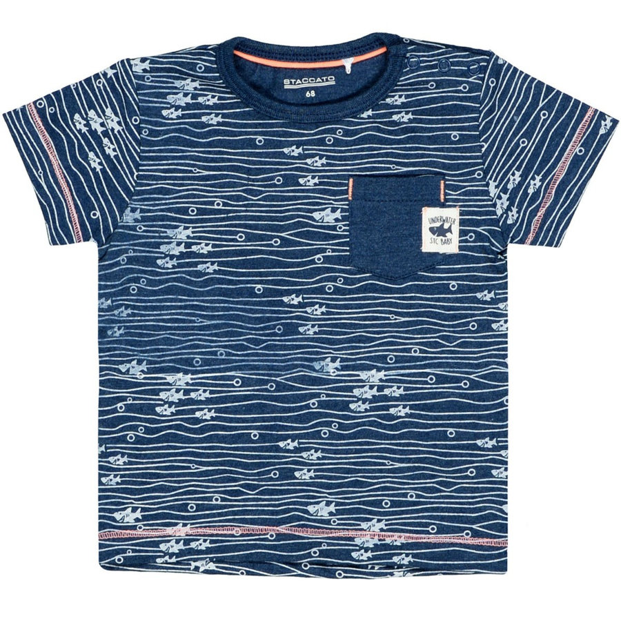 STACCATO T-Shirt melange fish