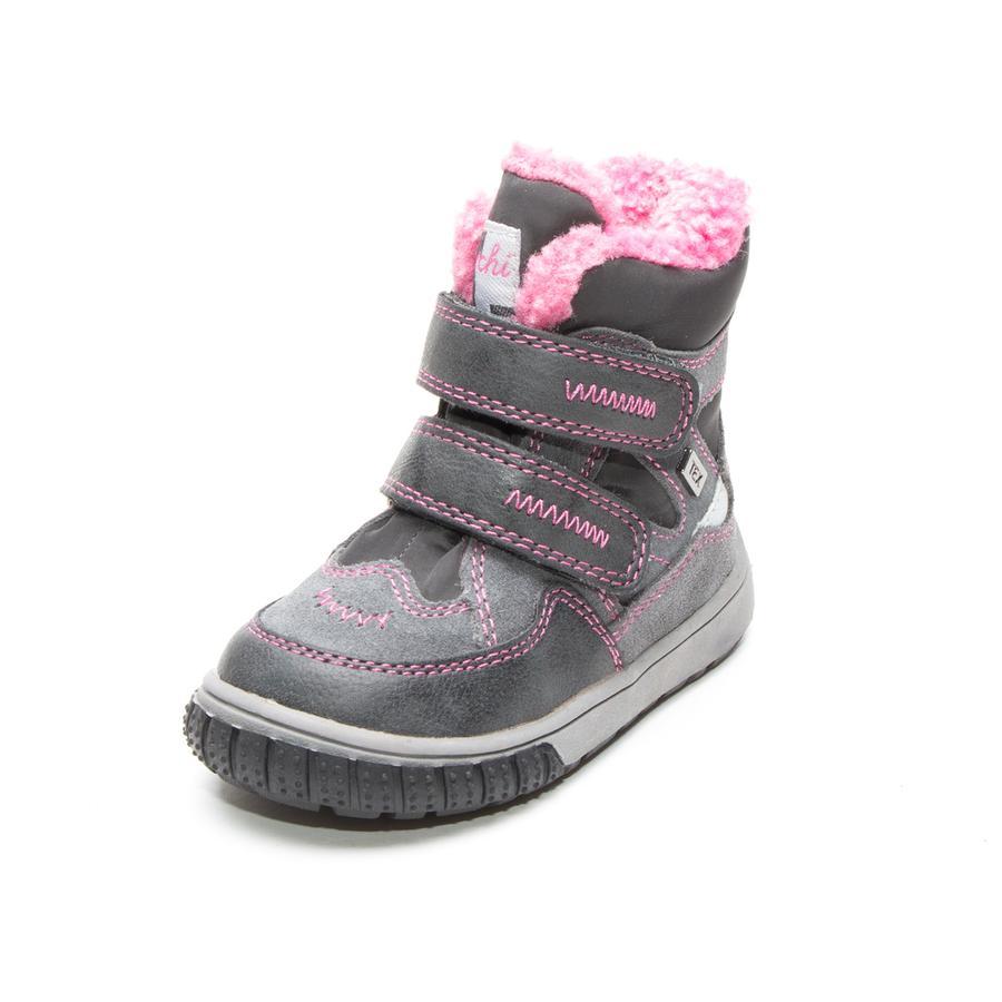 Lurchi Girl s Kinderlaarzen Jaufen-Tex grijs roze (medium)