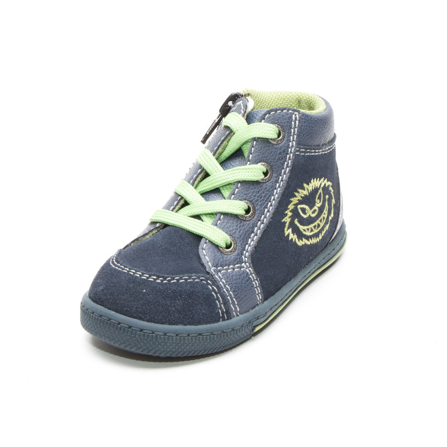 Lurchi Boys Bajo zapato Bingi verde marino (medio)