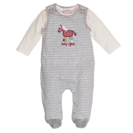 SALT AND PEPPER Baby Glück Rampersy Pony grey
