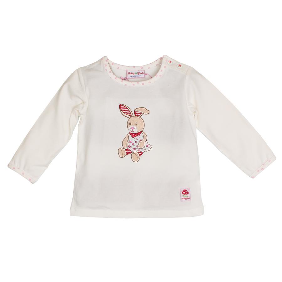 SALT AND PEPPER Baby Glück Bluzka z długim rękawem Zajączek off-white
