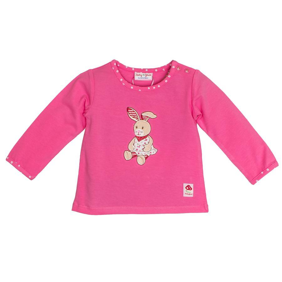 SALT AND PEPPER Baby Glück Girls Bluzka z długim rękawem Zajączek pink