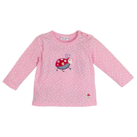 SALT AND PEPPER Baby Glück Girls Langarmshirt Käfer rosa