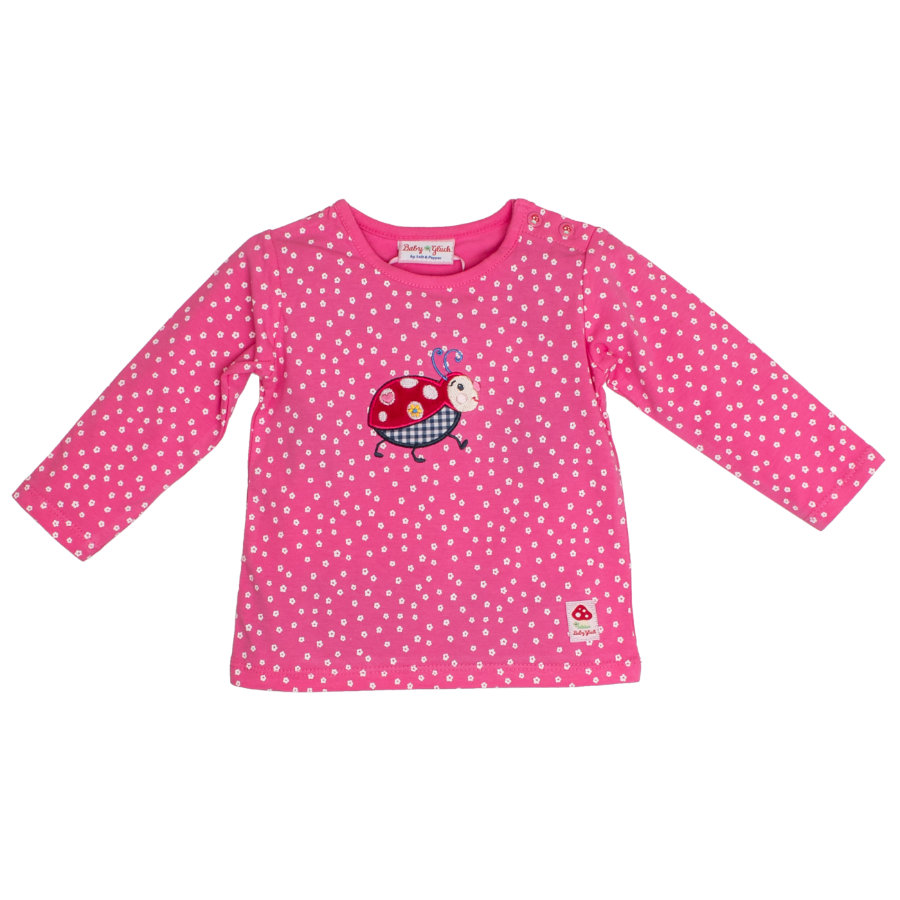 SALT AND PEPPER Baby Glück Langarmshirt Käfer pink