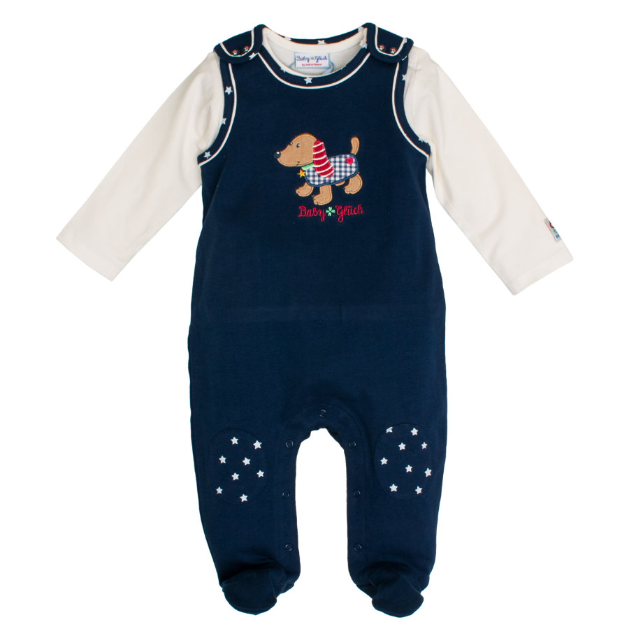 SALT AND PEPPER BabyGlück Śpioszki Piesek navy blue