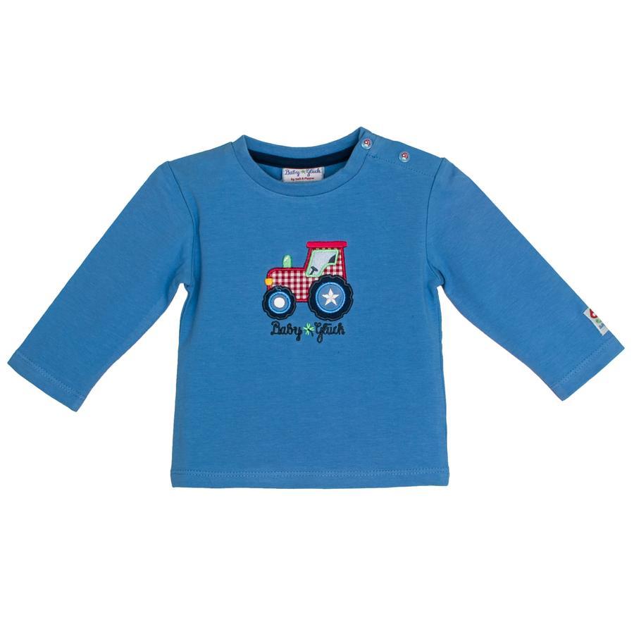SALT AND PEPPER BabyGlück Bluzka z długim rękawem Traktor mid blue