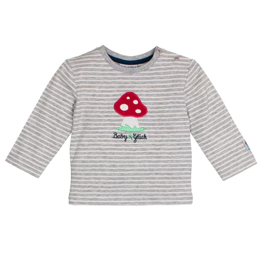 SALT AND PEPPER Baby luck shirt met lange mouwen paddestoel grijs