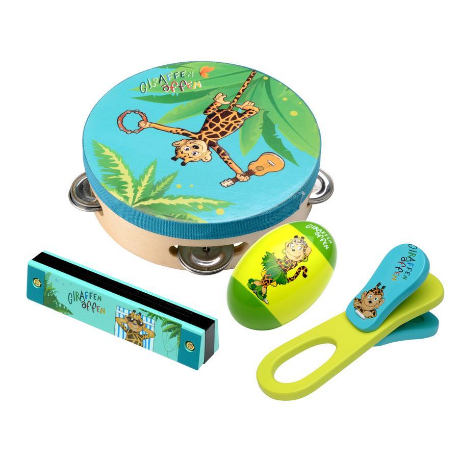 beluga Giraffe set strumenti scimmia, 4 pezzi