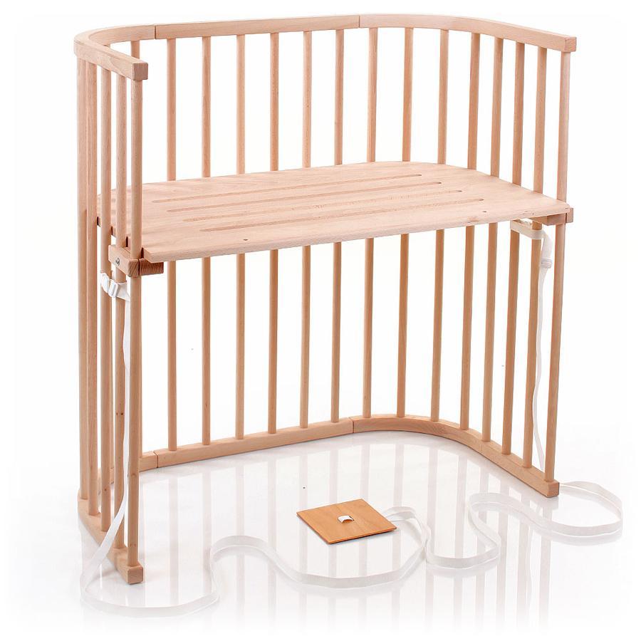 babybay Łóżeczko dostawne do łóżek kontynentalnych surowe drewno kolor naturalny